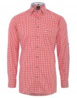 Vorschau: Trachtenhemd Olymp rot/weiß kariert