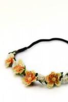 Vorschau: Haarband mit gelben Frühlingsblüten