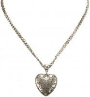Vorschau: Halskette Trachtenherz altsilber