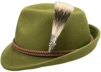 Trachtenhut Edelweiß grün