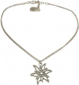 Trachten Halskette Edelweißglitzer