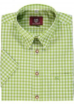 Trachtenhemd Bertl hellgrün-kariert