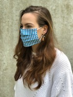 Vorschau: Mund-Nasen-Maske Lilli türkis