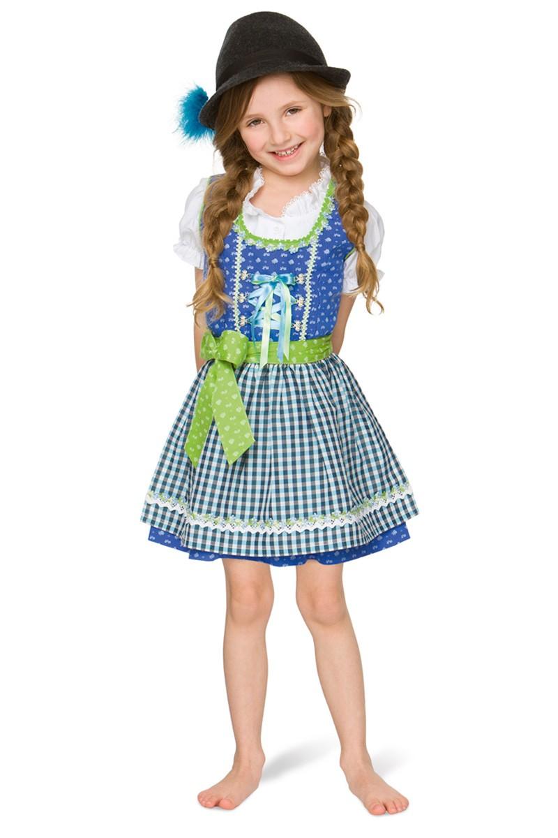 Kinderdirndl Edita blau