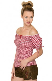 Trachten blouse Clio in red