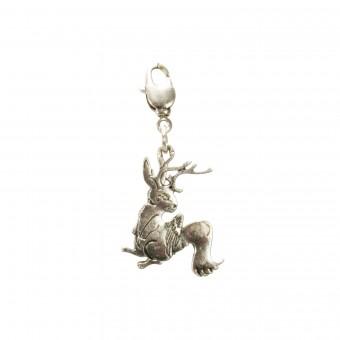 Trachten Wolpertinger Pendant, Antique Silver