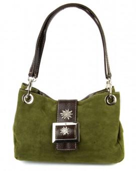 Handtasche Nora Wildleder oliv