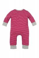 Vorschau: Baby Strampler geringelt 'Hosenträger'