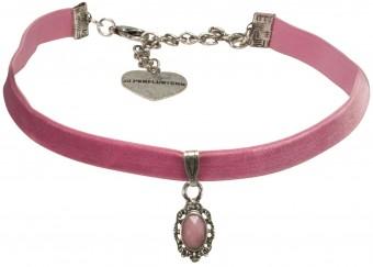 Samtkropfband Beatrice rosa
