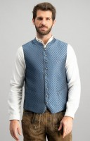 Preview: Trachten vest Pino in blue