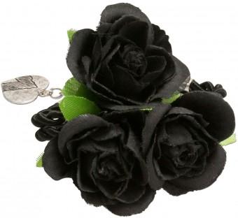 Blüten-Armband Celina schwarz