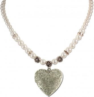 Amulett-Halskette Anthea creme
