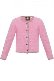 Kinderstrickjacke Sylt rosa