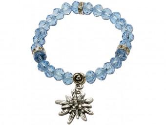 Trachten Perlenarmband Fiona Crystal hellblau