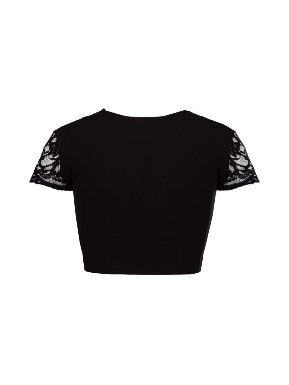 Bluzka Dirndl Talia czarna