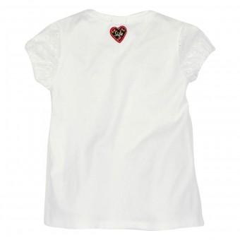 T-Shirt ´Miss Alpenglück´ weiss