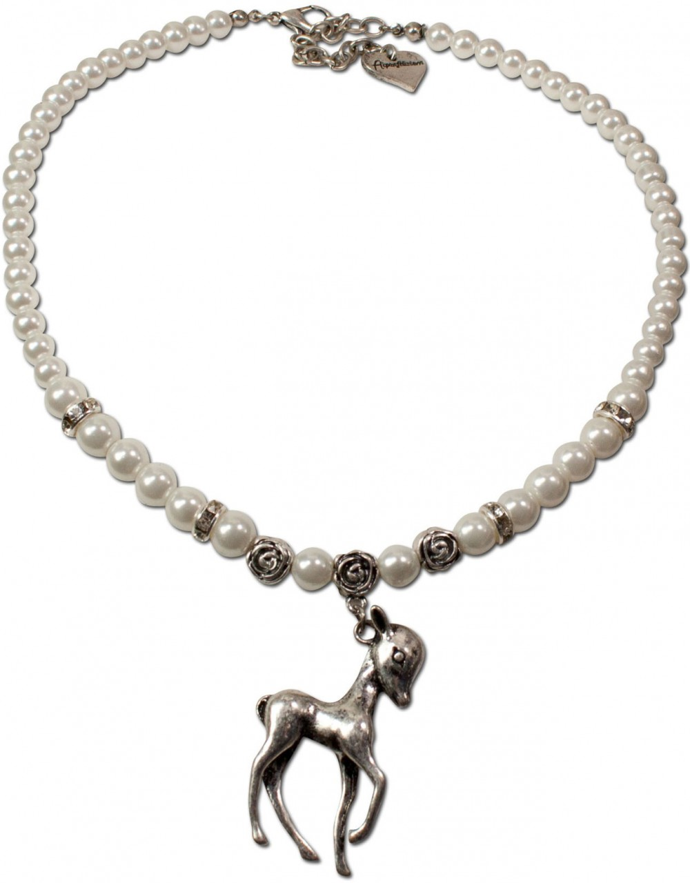 Perlenkette Juliana cremeweiß