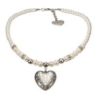 Vorschau: Perlenhalskette Gretl weiß