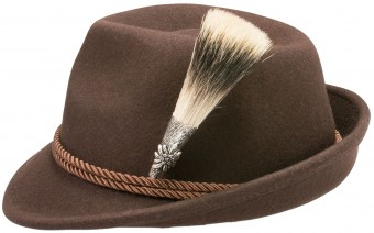 Trachten Hat, Edelweiß Badge, Brown