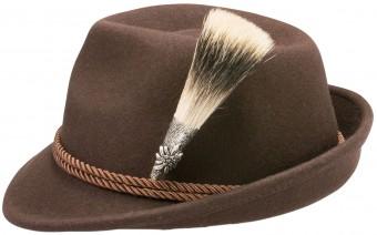 Bawarski kapelusz Edelweiss brązowy
