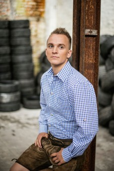 Traditioneel shirt Philipp blauw