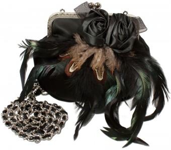 Satintasche Trachtentasche schwarz