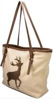 Vorschau: Trachten Handtasche mit Hirschstickerei beige