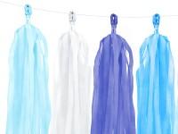 Preview: Tasselgirlande blau weiß 1,5m