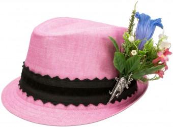 Leinenhut Alpenblümchen rosa