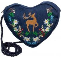 Vorschau: Herztasche Hirsch Blumenranken Jeans