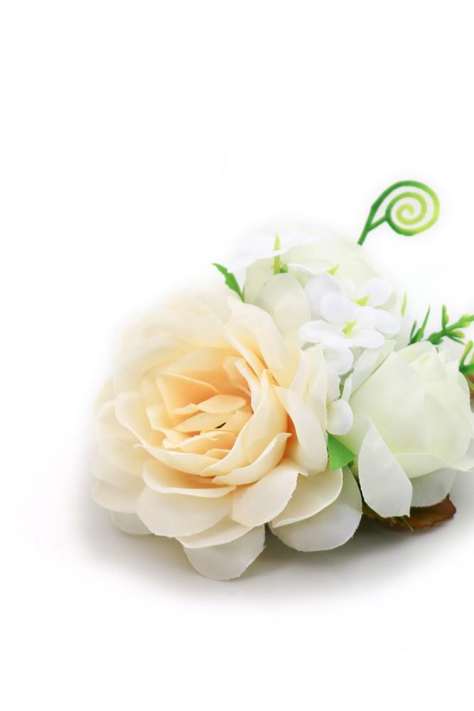 Ansteckblume Fridl weiß