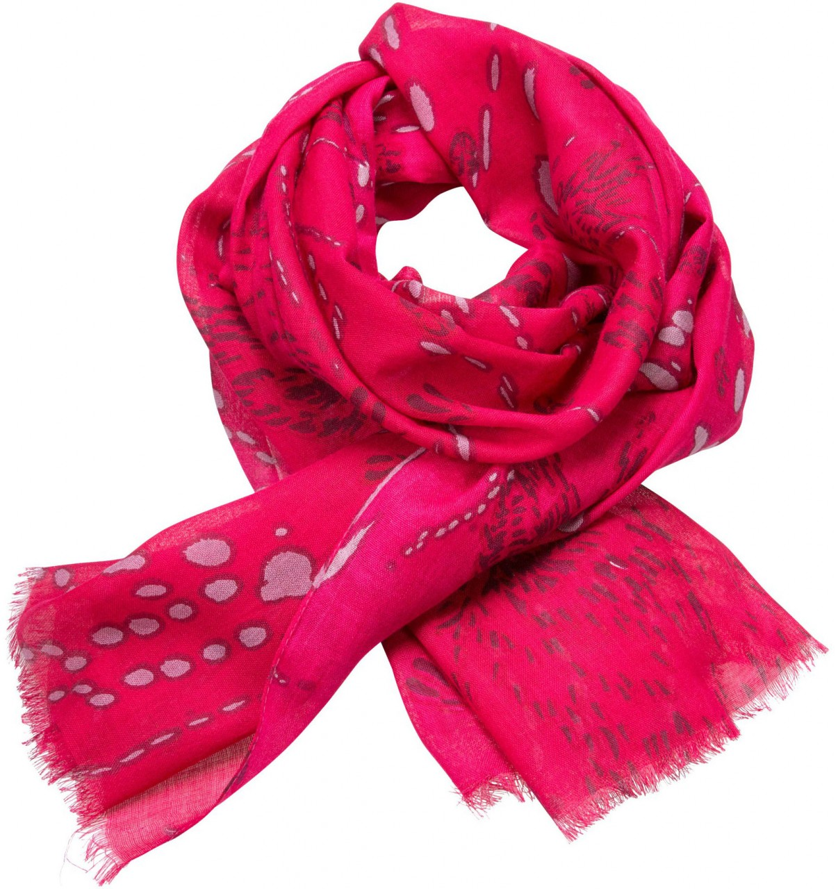 Trachtenschal Schneespuren pink