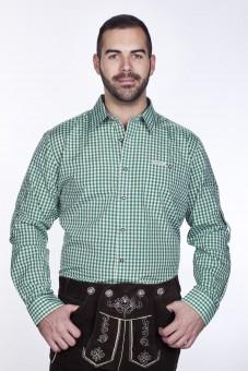 Trachtenhemd Dunkelgrün