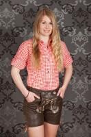 Vorschau: Ledershorts Christina braun