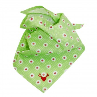 Doek allover print groen (babydoek)