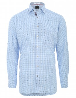 Trachten Shirt Olymp, blue-white checked