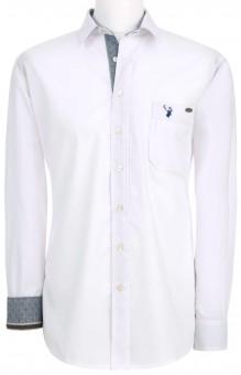 Herrenhemd Askot weiß-blau