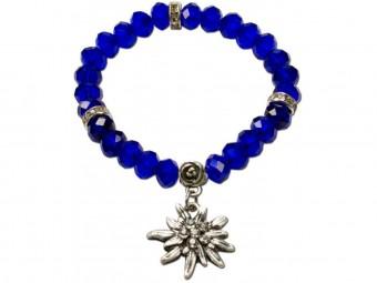 Trachten Perlenarmband Fiona Crystal blau