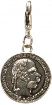 Trachten-Anhänger silberne Münze klein