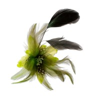 Vorschau: Federbrosche Julia hellgrün