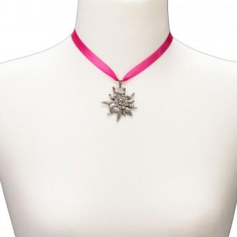 Satin-Trachtenkette Marlene pink