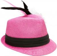 Vorschau: Trachten-Strohhut pink