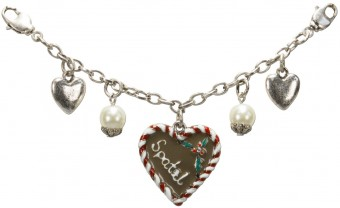 Charivari Chain with Gingerbread Heart, Red