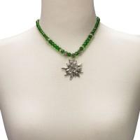 Vorschau: Trachtenkette großes Edelweiß grün
