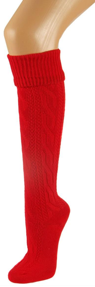 Beierse sokken rode knielengte