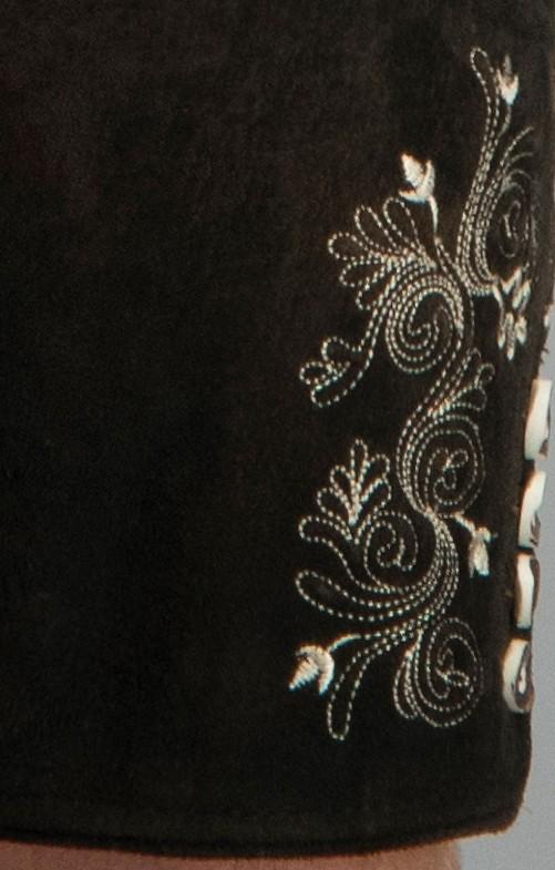 Lederhose Corbi dunkelbraun