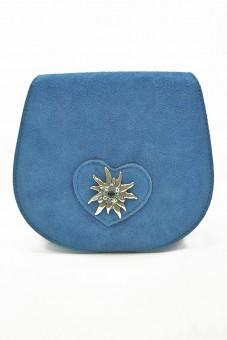 Schultertasche Wildleder blau