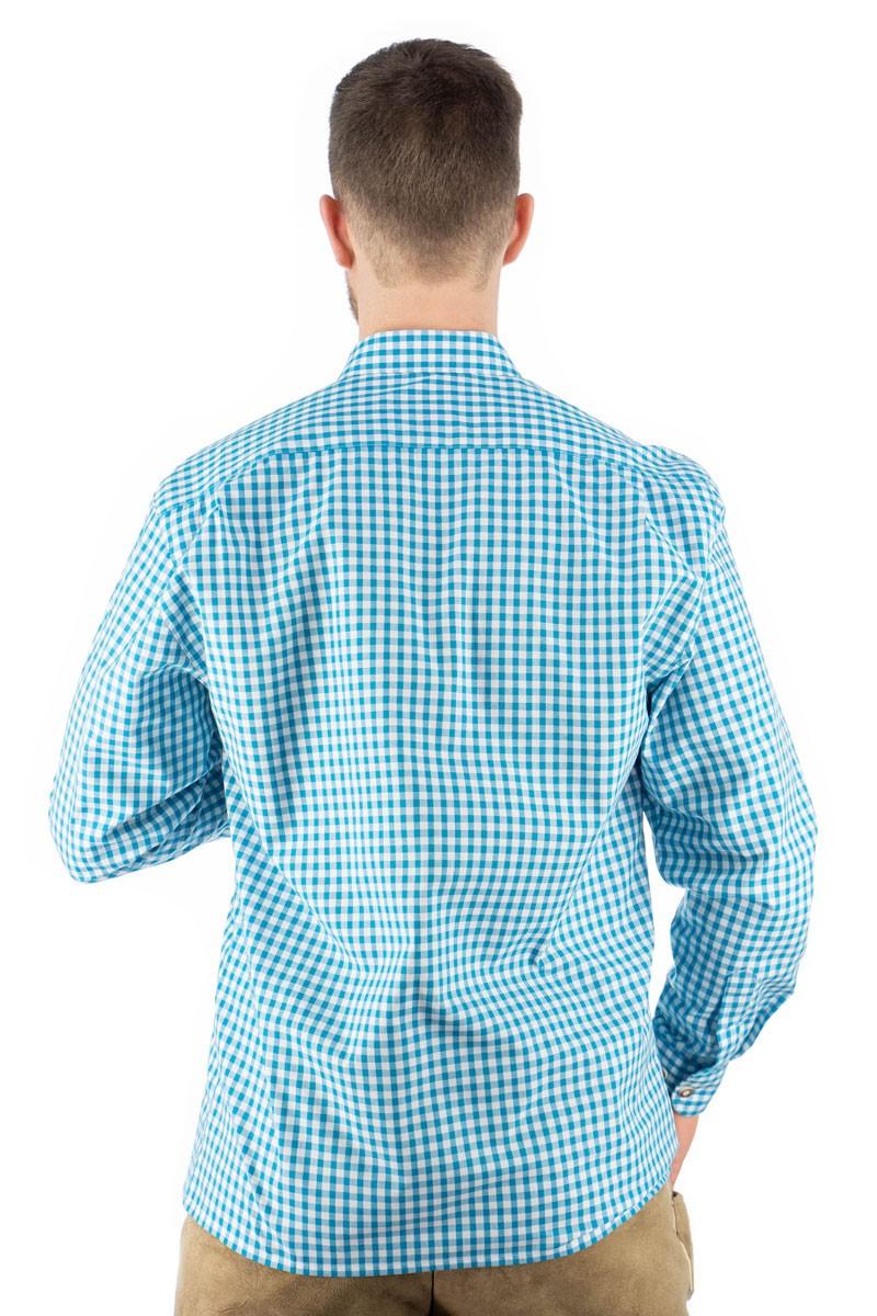Trachtenhemd Bertl türkis-kariert