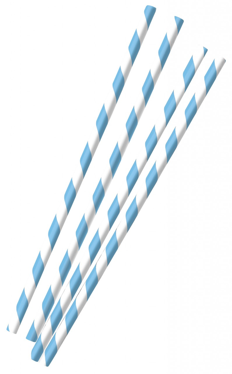 12 papieren rietjes Beieren 19,7cm