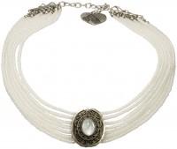 Vorschau: Perlenkropfkette Alice weiß
